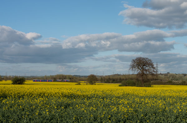Views across the Green Belt, looking towards Oxford, from near the Church car park.